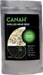canah shelled hemp seed conventional 500g front